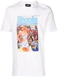Andrea Crews Graphic Printed T Shirt White