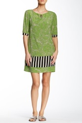 Yoana Baraschi Pop Art Shift Dress Green