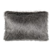 Helen Moore Faux Fur Lady Grey Cushion