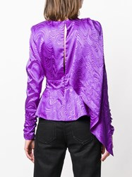Dodo Bar Or Patterned Party Blouse Pink And Purple
