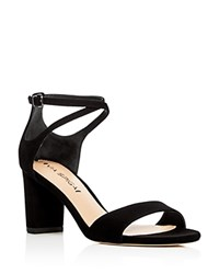 Via Spiga Wendi Crisscross Ankle Strap High Heel Sandals Black