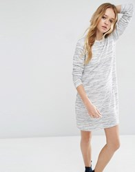 Asos Casual Swing Sweat Dress In Space Dye Grey