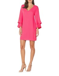 Laundry By Shelli Segal Solid Drop Shoulder Shift Dress Raspberry