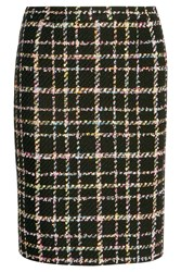 Boutique Moschino Wool Blend Boucle Tweed Skirt