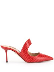 Aquazzura Classic Pointed Mules Red