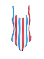 Solid And Striped The Anne Marie Striped Swimsuit Red White