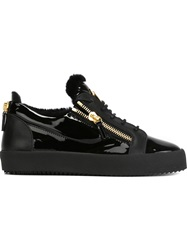 Giuseppe Zanotti Design Zipped Low Top Sneakers Black