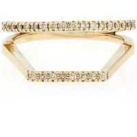 Hirotaka Women's Double Square Ring No Color