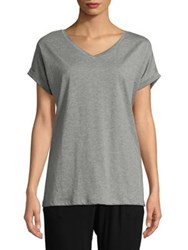 Lord And Taylor Boxy Cotton Tee Black