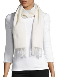 Lord And Taylor Fringed Cashmere Scarf Black