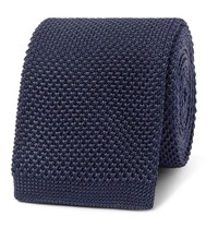 Hugo Boss 6Cm Knitted Silk Tie Navy