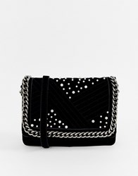 Pieces Jael Cross Body Bag With Chain Handle Black