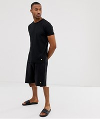 Lyle And Scott Lounge Shorts Set In Black