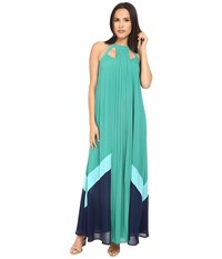 Adelyn Rae Color Block Maxi Dress Mint Women's Dress Green