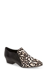 Isola 'Banner' Bootie Women Snow Leopard Black Leather
