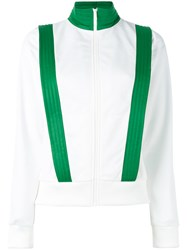 Ganni Contrast Trim Fitted Jacket White