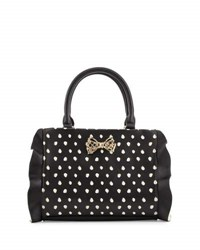 Betsey Johnson Flouncing Around Shoulder Bag Black White