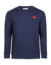 Wesc Beatie Long Sleeve Sweatshirt Navy Blazer