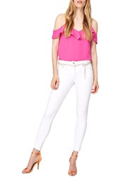 Damsel In A Dress Mika Belted 7 8 Jeans White