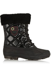 Ugg Newberry Shearling Lined Leather And Quilted Shell Boots Black