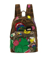 Marc Jacobs X Julie Verhoeven Camo Embellished Biker Backpack Multi
