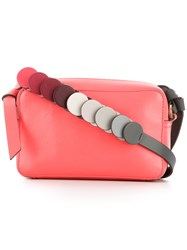 Anya Hindmarch Contrast Shoulder Bag Women Leather One Size Pink Purple