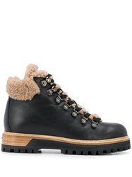 Le Silla Hiking Style Ankle Boots Black