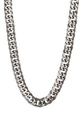 Steve Madden Thick Curb Chain Necklace Metallic