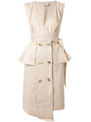 Aje Roberts Midi Dress Neutrals