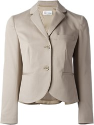 Red Valentino Classic Blazer Nude And Neutrals