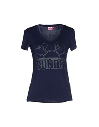 Sundek Topwear T Shirts Women Dark Blue