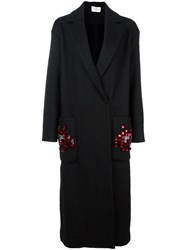 Anya Hindmarch 'Space Invaders' Coat Black