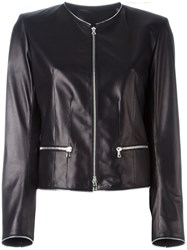 Sylvie Schimmel Cropped Leather Jacket