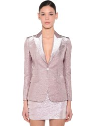 Dsquared Lame Single Breast Blazer Pink