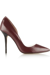 Lucy Choi London Soho Pvc Trimmed Leather Pumps Red