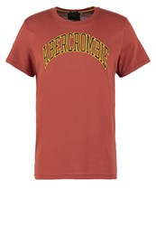 Abercrombie And Fitch Varsity Core Extension Muscle Fit Print Tshirt Bordeaux