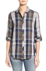 Women's Kut From The Kloth 'Tabitha' Tiered Plaid Shirt