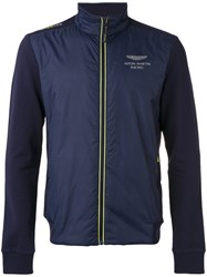 Hackett Aston Martin Logo Jacket Men Cotton Nylon Polyester Spandex Elastane S Blue