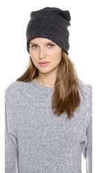 Plush Barca Slouchy Fleece Lined Hat Charcoal