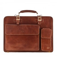 Maxwell Scott Bags Tan Men S Leather Briefcase