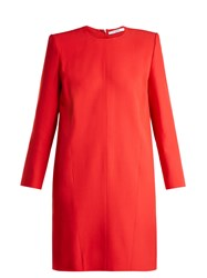 Givenchy Crepe Shift Dress Red