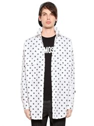 Love Moschino Peace Sign Oversized Cotton Poplin Shirt