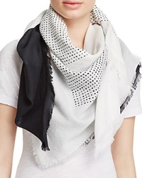 Dkny Pure Ondine Cotton Scarf Chalk