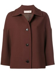 Marni Buttoned Jacket Brown
