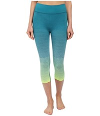 Brooks Streaker Capris Nightlife Kale Women's Capri Green