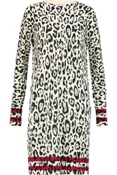 See By Chloe Leopard Print Wool Mini Dress Animal Print