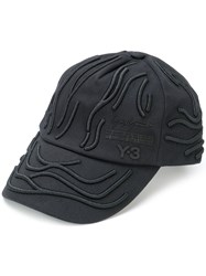 Y 3 Embroidered Baseball Cap Black