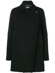 Sportmax Loose Double Breasted Coat Black
