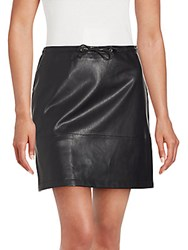 French Connection Solid Zip Skirt Black