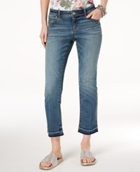 Inc International Concepts I.N.C. Flared Cropped Jeans Created For Macy's Evergreen Wash
